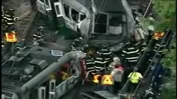 The operator of the train, Terrese Edmonds, was killed. 14 passengers were injured.