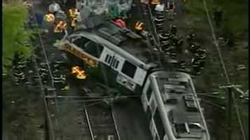 This trolley collision took place in Newton in May 2008.