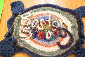 """Someone knitted""""Boston Strong"""""""