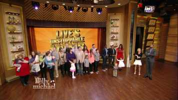 """The Stoneham mother of two Boston Marathon bombing victims was named the grand prize winner Friday of the Unstoppable Mom contest on """"Live with Kelly and Michael."""""""