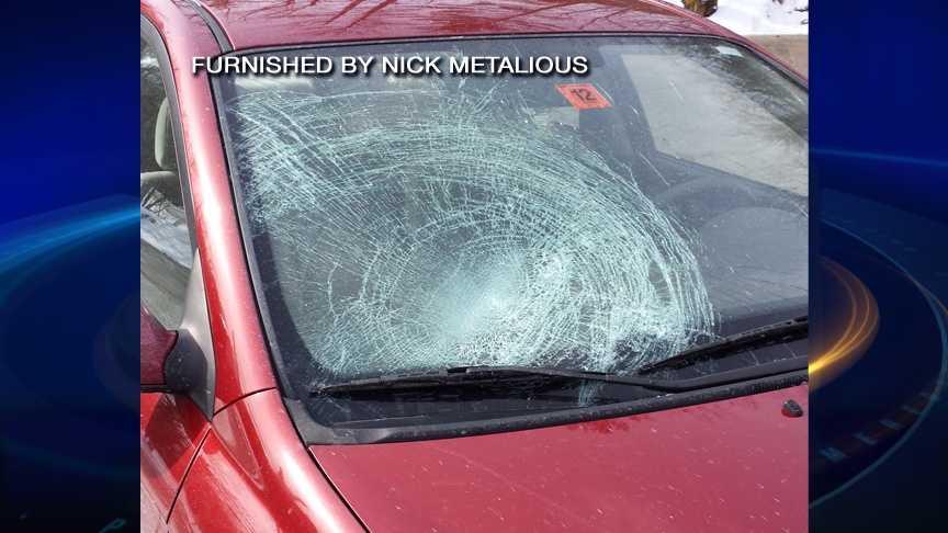 Ice through windshield