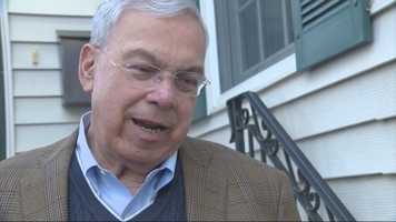 Menino speaks to reporters on March 16, 2014 after his diagnosis of an advanced form of cancer that had spread to his liver and lymph nodes was made public.