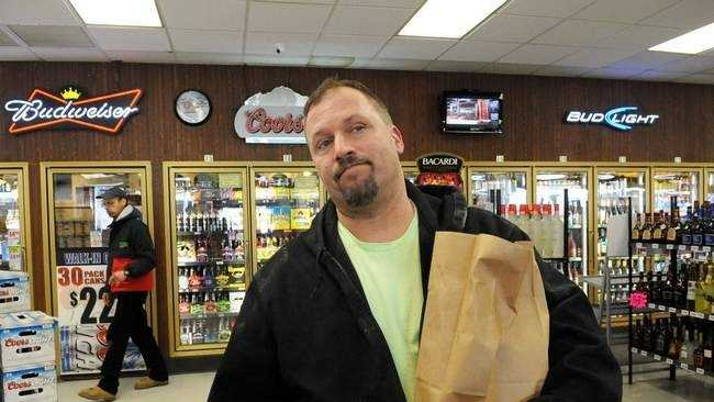 Chris Ebert of Brockton, shopping at Cary Hill Discount Liquors on Thursday, said he welcomes the change in Sunday hours for liquor sales.