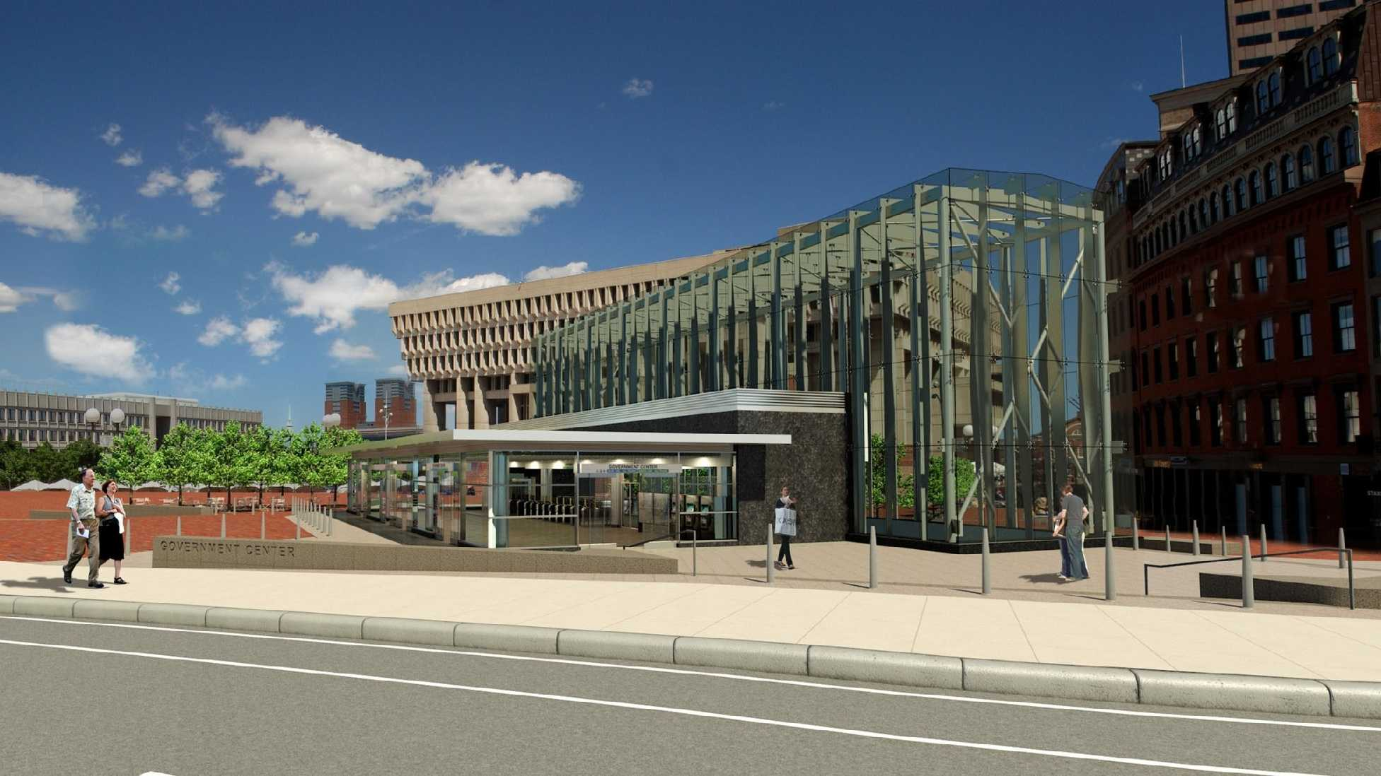 A photo of the proposed station headhouse.