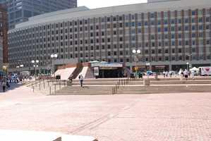Existing City Hall Plaza photo