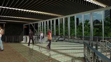 A rendering inside the refurbished Government Center station.