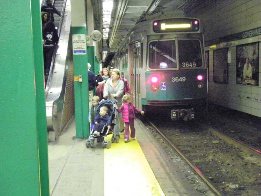 The existing platform for the Green Line is about 3 feet wide in some areas.