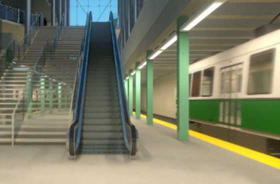 The proposed platform will be expanded to 10 feet wide with warning strips.