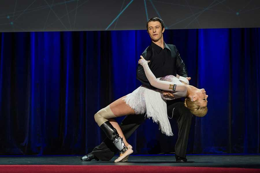 """""""I'm thrilled to have danced again. It was invigorating to dance publicly with my new leg, but also to realize that my return to dance may have the power to inspire other people to reach for their goals and be proactive in their lives. Haslet-Davis said."""