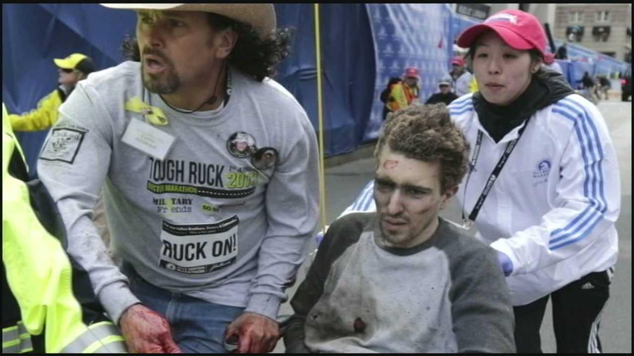 Marathon bombing victim provides first look at book