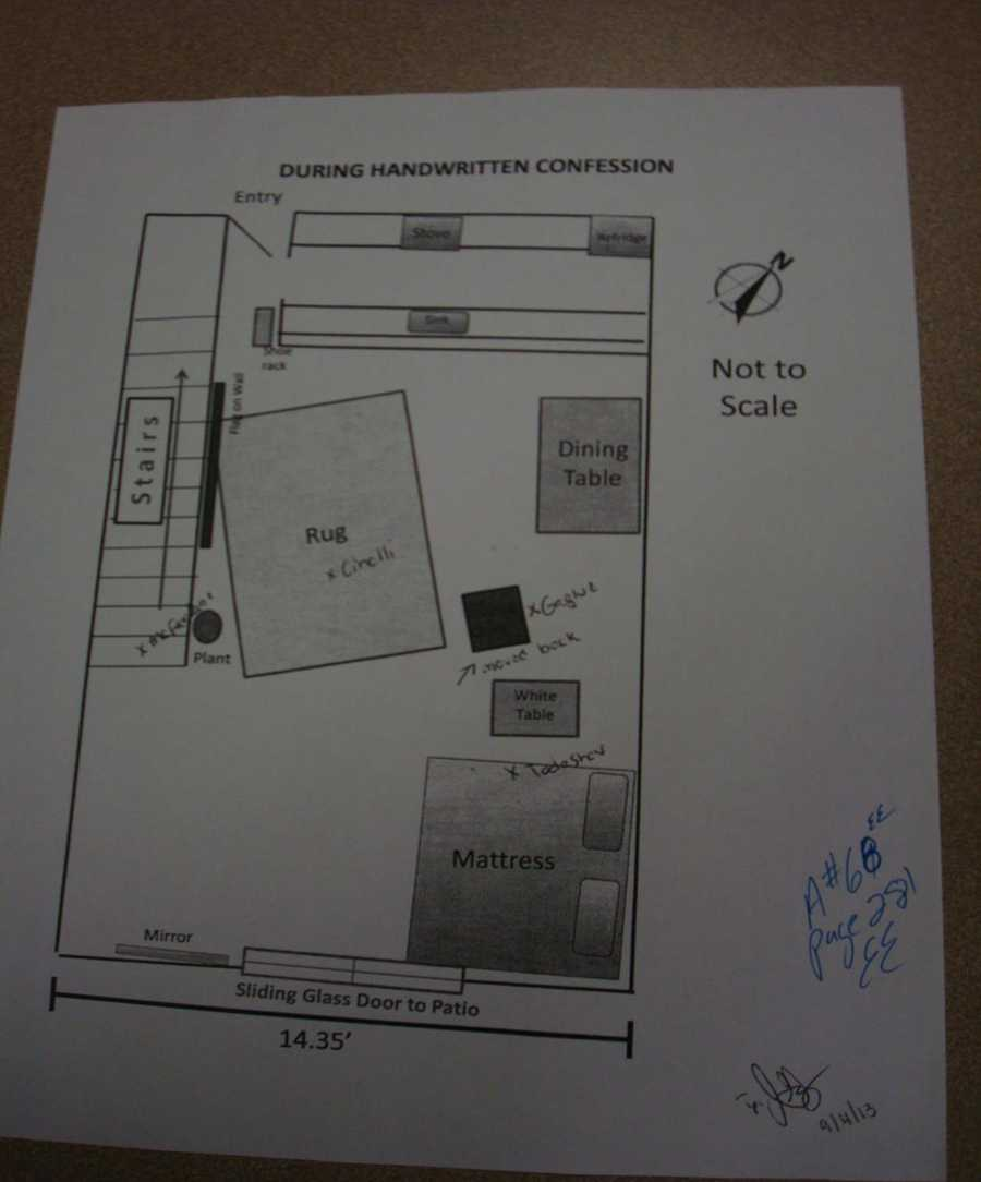 A diagram of the room.