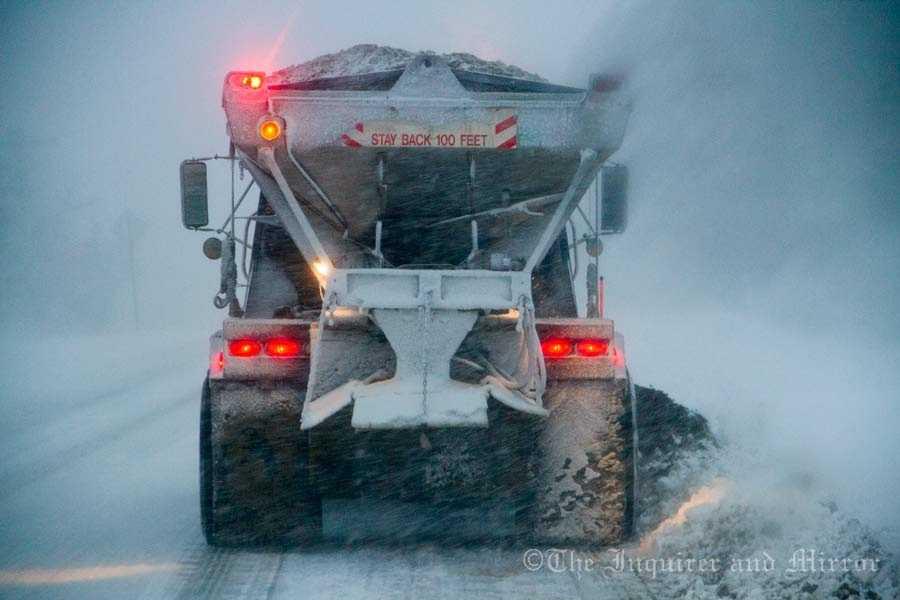 Road crews on Nantucket