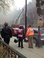 The Red Cross team at the Beacon Street fire