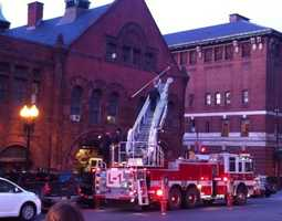 The flag at Engine 33 lowered to half staff