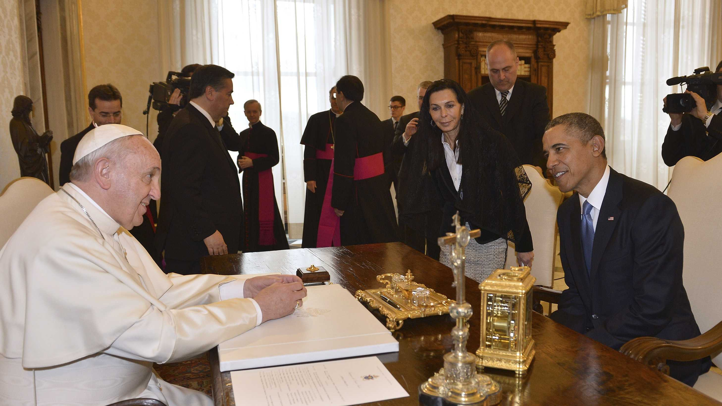 Obama and pope 3.27