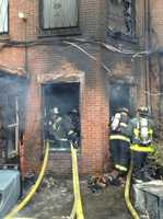 """""""We are aware of the potential we see in front of us&#x3B; we're going back inside the building,"""" was the reply from firefighters."""