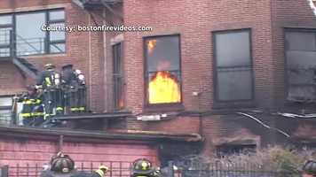The fire appeared to have started in the basement but moved quickly throughout the building.