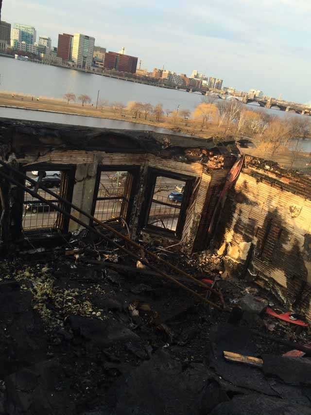 All of the residents escaped the 9-alarm blaze safely.