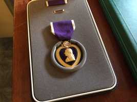 A Manchester man was awarded the Purple Heart in a ceremony Friday.