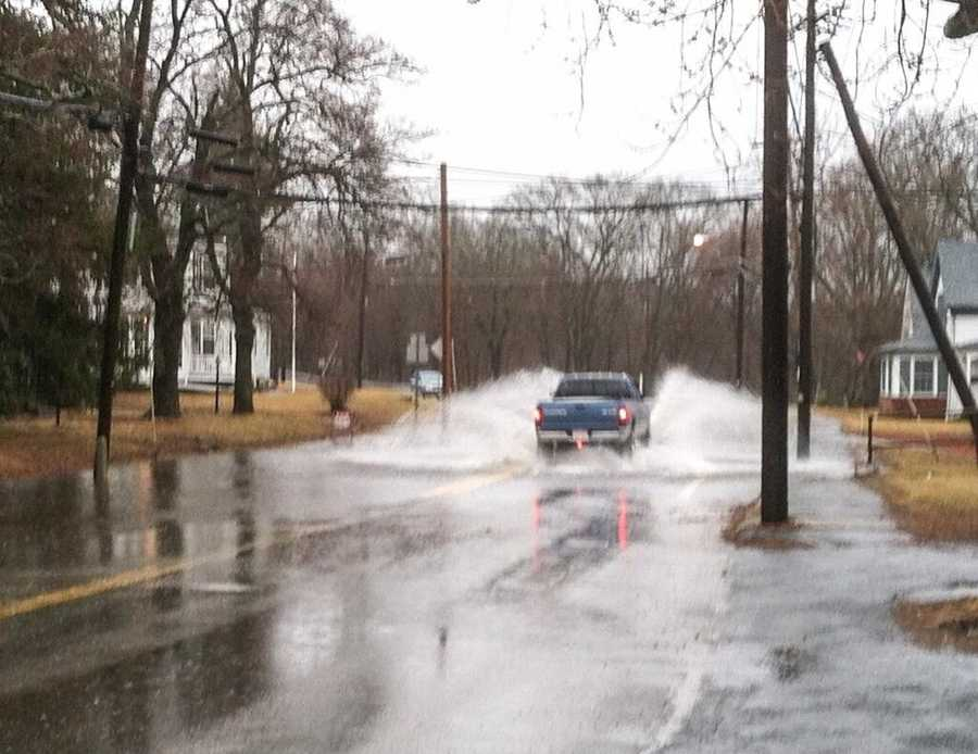 Flooding in Grafton, Mass. on Route 122.