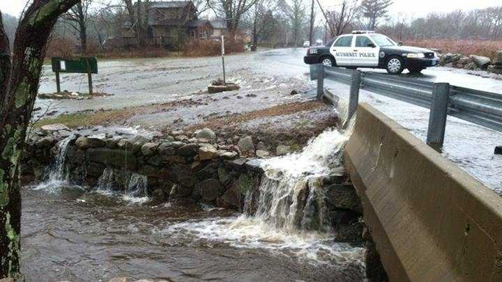 Flooding in Acushnet