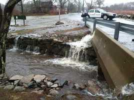 Flooding in Acushnet