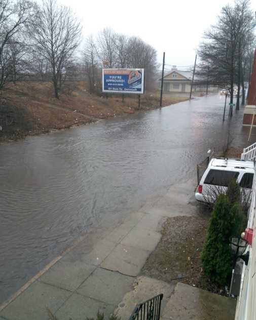 More flooding on Purchase Street in New Bedford.