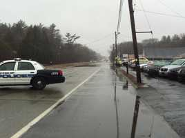 Part of Route 6 in Westport was closed after a stream overflowed.