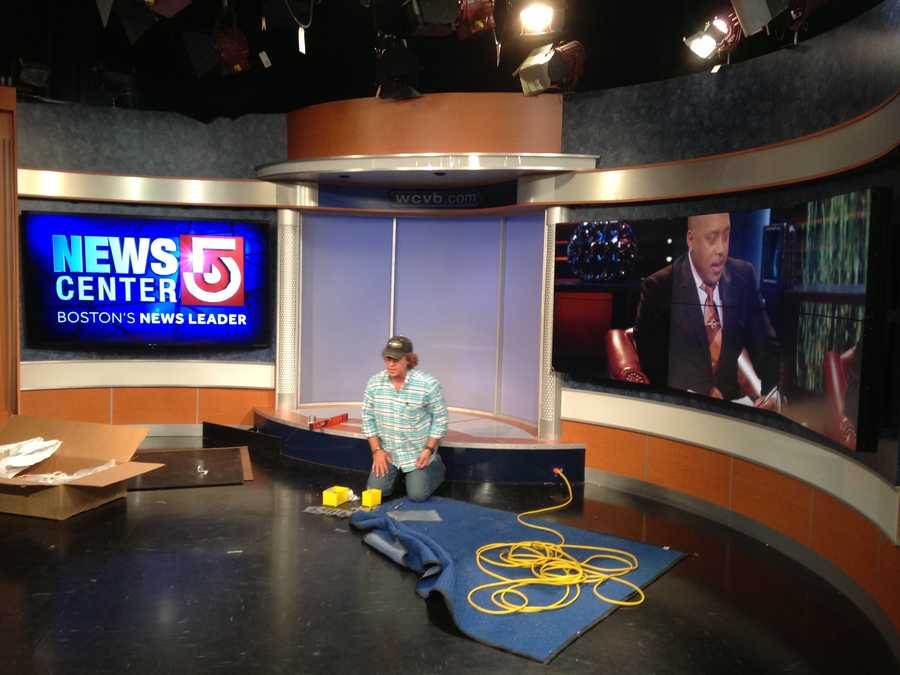 As Shark Tank airs Friday night on WCVB, work continues on the set.