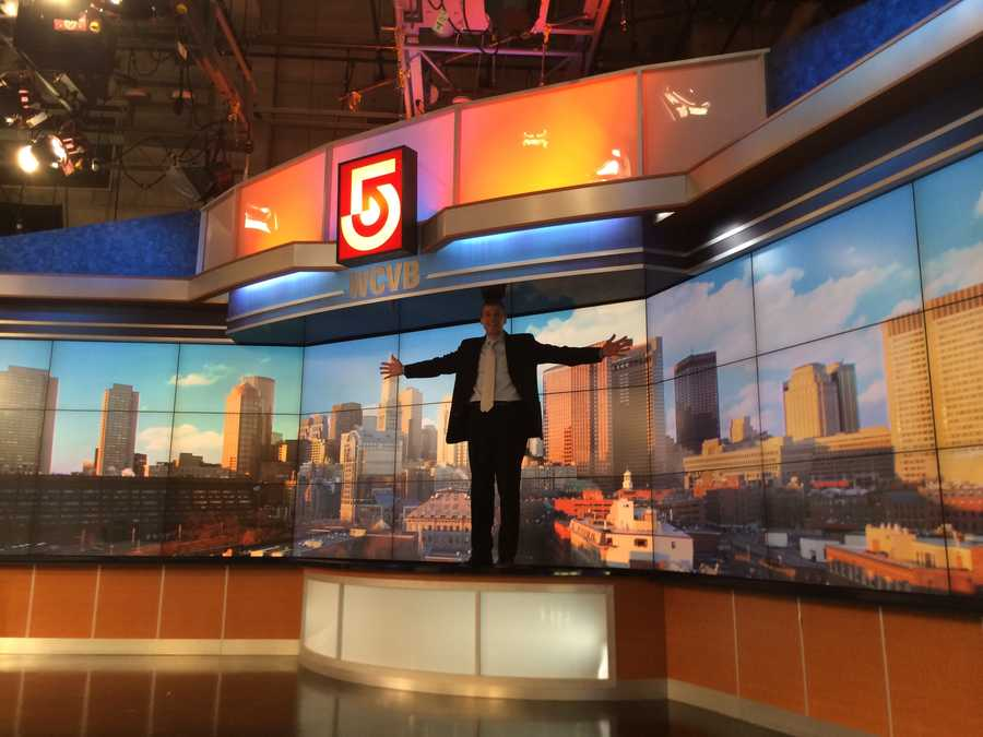Creative services director Russ Nelligan stands tall - showing just how big the new video wall is.