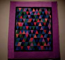 Thousand Pyramids Quilt, about 1930