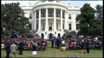 The Boston Red Sox celebrated their World Series championship with President Barack Obama at the White House on Tuesday.