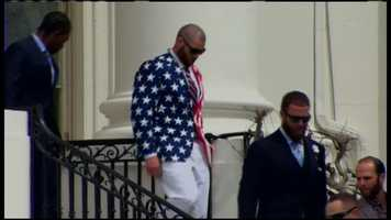 Johnny Gomes had a special outfit for the day!
