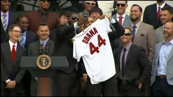 David Ortiz took a selfie with the president.