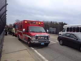 Kingston fire is ready to salute Maloney from the Route 3 overpass.