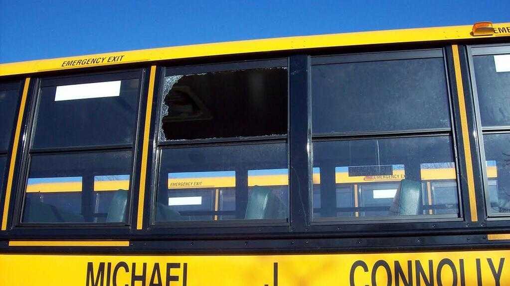 Ashland Turkey Hits Bus 4.3.14