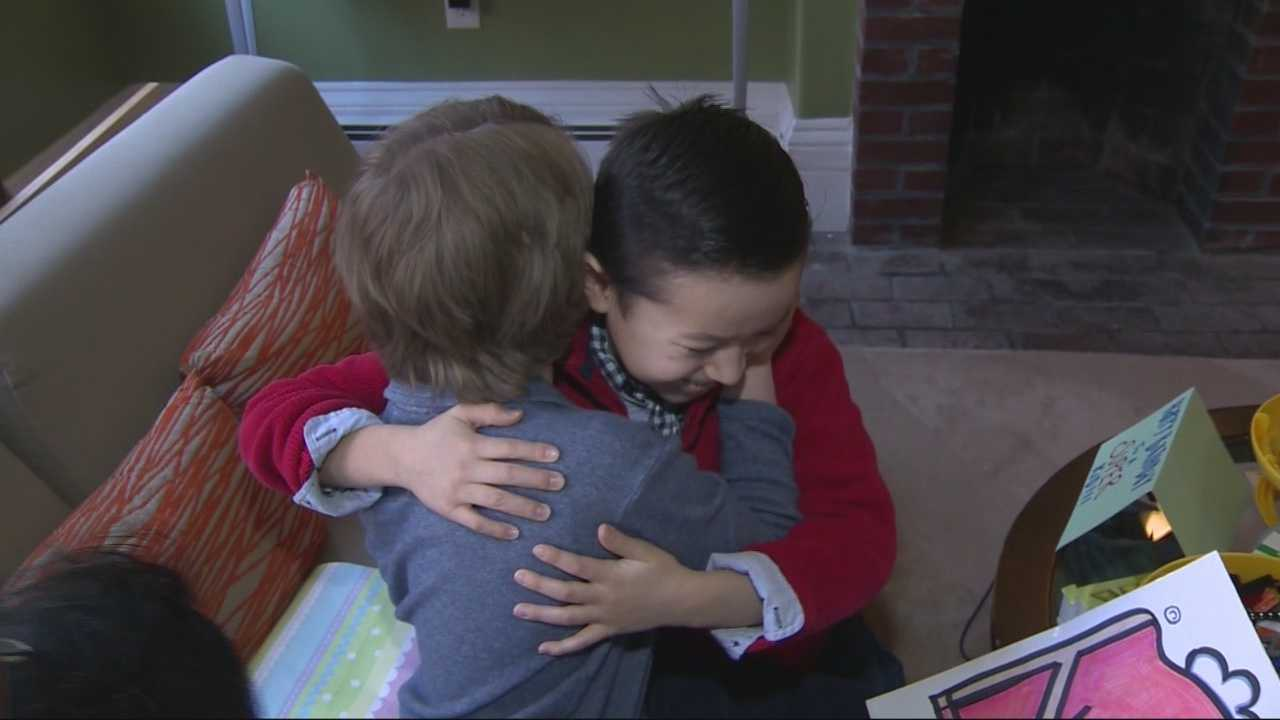 Boy delivers hundreds of birthday cards to friend battling cancer