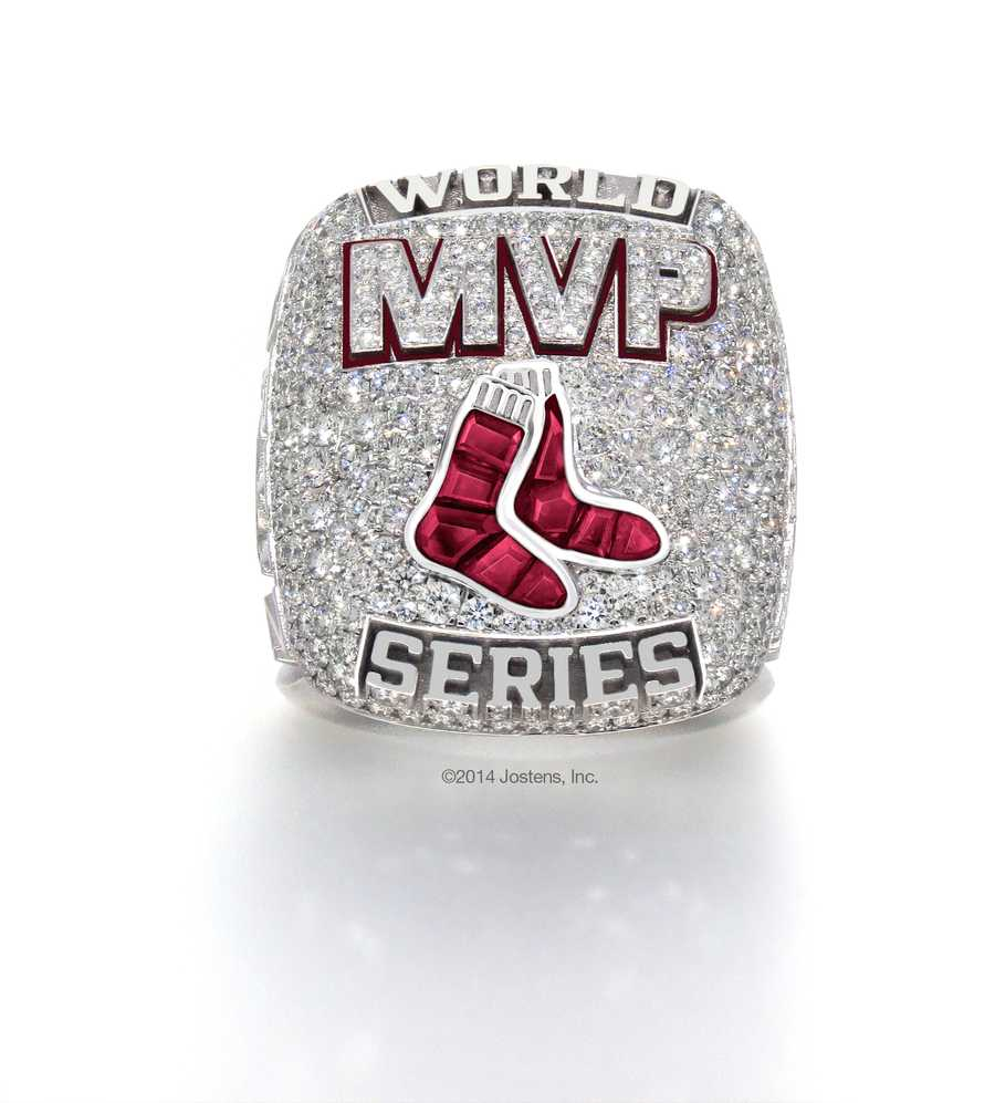 David Ortiz was also presented with a special MVP Ring for his 2013 postseason performance.