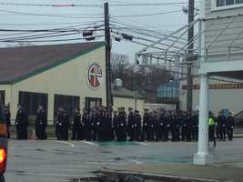 Mass. State Police say 2,000 police officers were at the funeral.