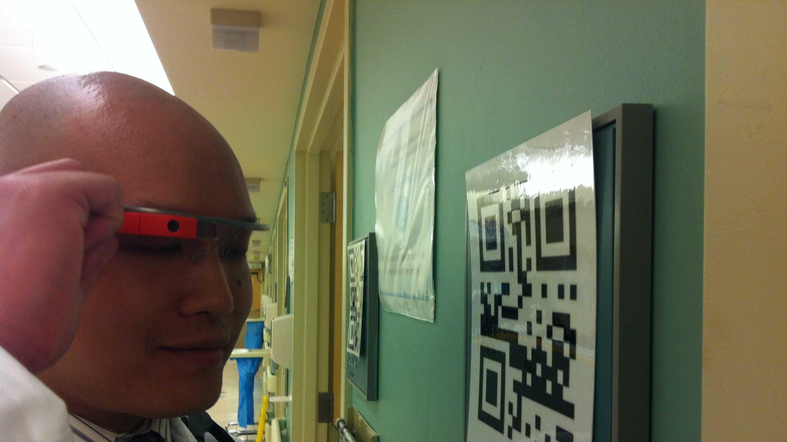 Doctor wearing Google Glass