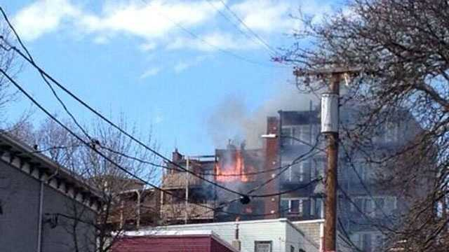 A fire broke out at a South Boston apartment building Wednesday afternoon.