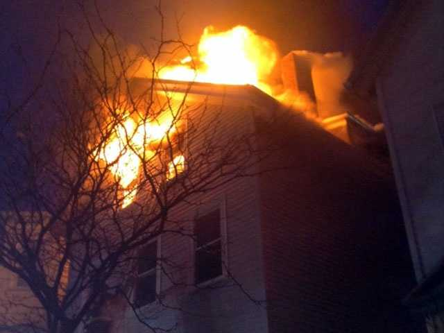 An 8-alarm fire was reported in east Boston Wednesday night.