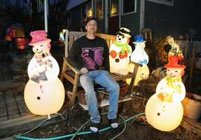 This winter he drove 12 hours to New Jersey and back to buy candy canes topped with snowmen.
