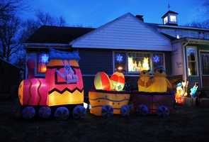 He has collected hundreds of the plastic figurines over the years and each Christmas places them in his yard along with strings of lights and other decorations