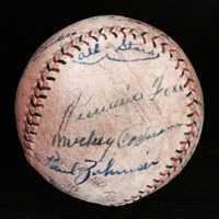 1930s Pacific Coast League signed baseball.