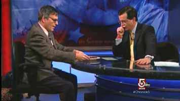 He offered a bug snack on The Colbert Report. Mr. Colbert did not bite.
