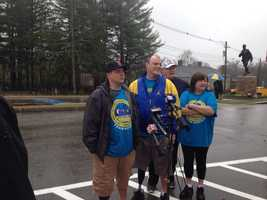 The Norden family is walking the marathon route.