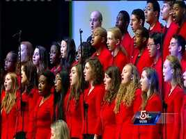 """The Boston Children's Chorus performed """"Up to the Mountain."""""""