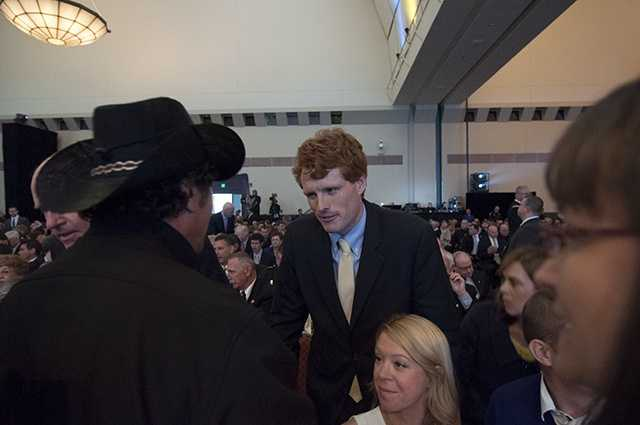 Joe Kennedy with Carlos Arrendondo.