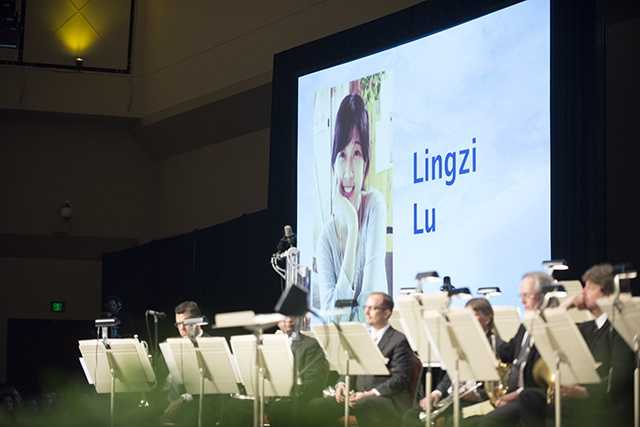 BU student Lu Lingzi is honored.